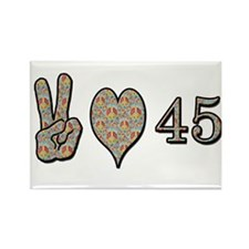 Cool Peace love birthday Rectangle Magnet (10 pack)