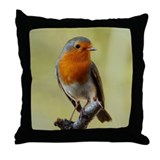 Robin Bird Photo Throw Pillow