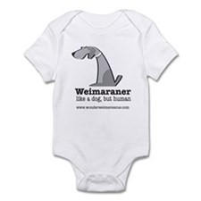 Cute Weimaraner Infant Bodysuit