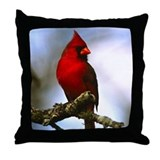Cardinal Bird Photo Throw Pillow