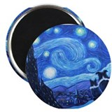 Starry Night Border Collie Magnet