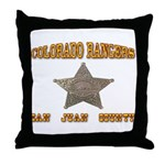 Colorado Rangers San Juan Throw Pillow