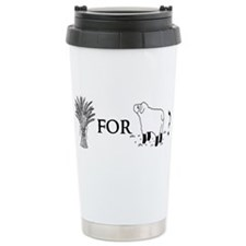 Wheat for Sheep Ceramic Travel Mug