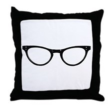 Librarian Glasses Throw Pillow