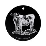 Spotted Cow Ornament (Round)