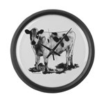 Spotted Cow Large Wall Clock