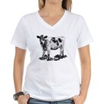 Spotted Cow Women's V-Neck T-Shirt