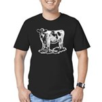Spotted Cow Men's Fitted T-Shirt (dark)