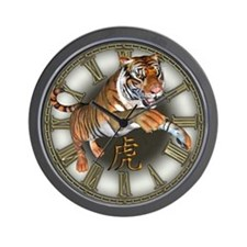 Leaping Tiger Wall Clock
