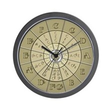 Circle of Fifths Deco Gold 2 Wall Clock