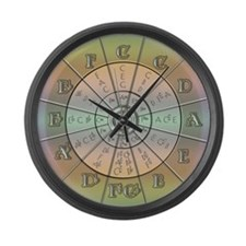 Circle of Fifths Pastel 2 Large Wall Clock