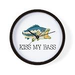 Kiss My Bass Wall Clock