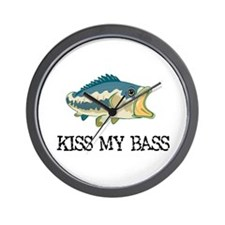 Kiss My Bass Wall Clock