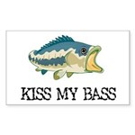Kiss My Bass Rectangle Sticker