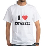 I Love [Heart] Cowbell Shirt