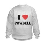I Love [Heart] Cowbell Sweatshirt