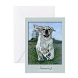 Incoming!!! Yellow Lab Puppy Greeting Card