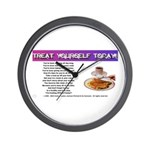 Treat Yourself Today Wall Clock