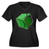 3D #2 Women's Plus Size V-Neck Dark T-Shirt