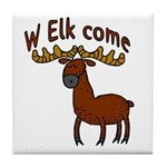 Elk Welcome Tile Coaster