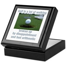 Golf is a lot of walking Keepsake Box