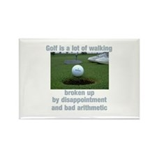 Golf is a lot of walking Rectangle Magnet (100 pac