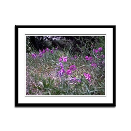 Purple Wildflowers Framed Panel Print