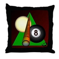 Eight Ball Gifts Throw Pillow