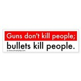 Guns and Bullets Bumper Sticker