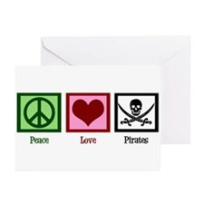 Peace Love Pirates Greeting Cards (Pk of 20)