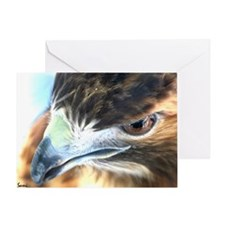 Red Tail Hawk Side Portrait ( Greeting Card