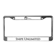 Snipe Unlimited License Plate Frame
