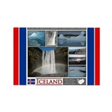 Cute Iceland volcano Rectangle Magnet