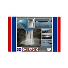 Funny Iceland dog Rectangle Magnet