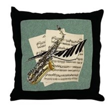 Music Design Throw Pillow