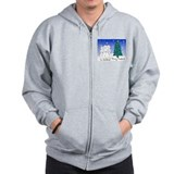 Catholic Nuns Christmas Zipped Hoody