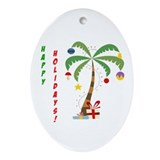 Holiday Palm Tree Ornament (Oval)