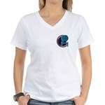 Enterprise Mission Patch (small) Women's V-Neck T-