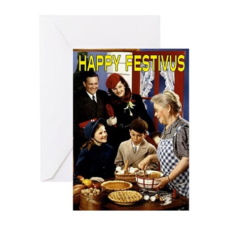 """Homespun Family Festivus"" Cards (Pk of"