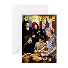 """""""Homespun Family Festivus"""" Cards (Pk of"""