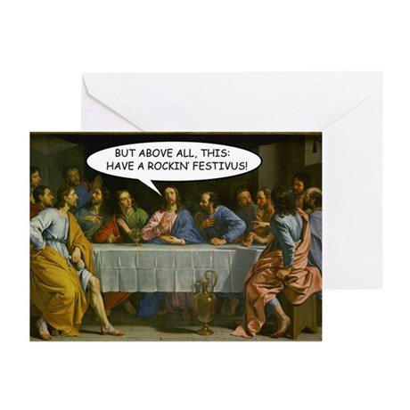 """Last Festivus Supper"" Holiday Cards (Pk"