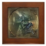 Gothic Black Crow Framed Tile