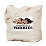 Blessed By Yorkies Tote Bag