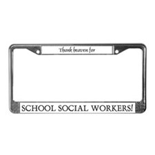 Thank Heaven School SW BRT License Plate Frame
