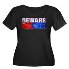 Motivator Women's Plus Size Scoop Neck Dark T-Shir