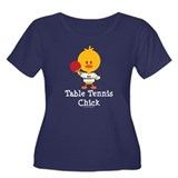 Table Tennis Chick Women's Plus Size Scoop Neck Da