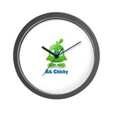 RA Chicks Cute Green Chicky Wall Clock