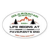 Resume Trails Gold Mountain Decal