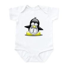 Grey Awareness Ribbon Penguin Infant Bodysuit