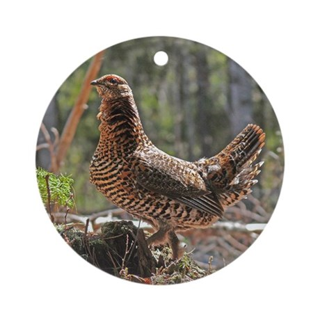 Female Spruce Grouse Ornament (Round)